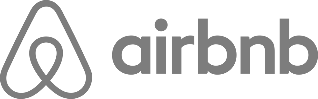 airbnb logo in grayscale