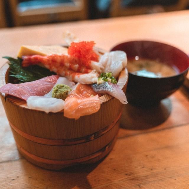 bowl of sashimi