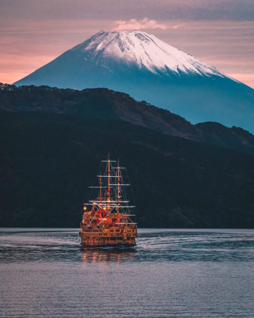 Mt Fuji with Pirate Ship