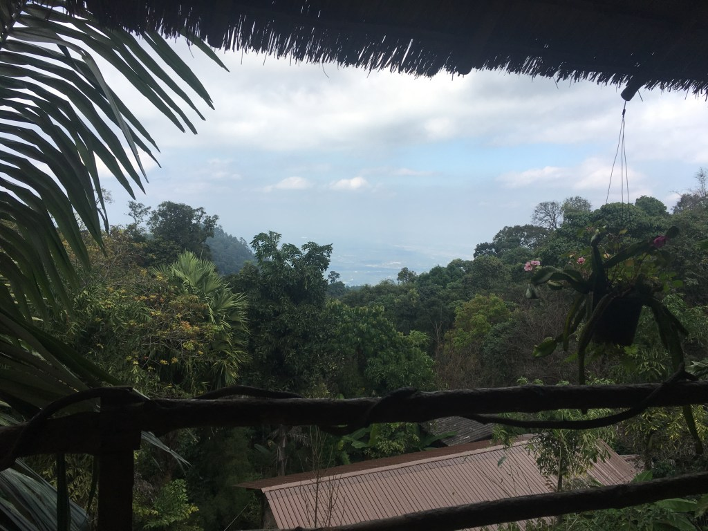 View from a small cafe at hill tribe village in Chiang Mai, Thailand