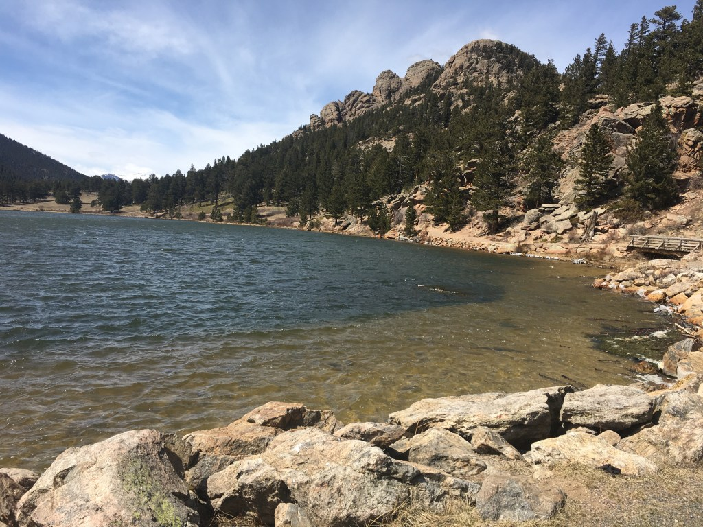 Photo of Estes Park lake in Rocky Mountain National Park, Colorado
