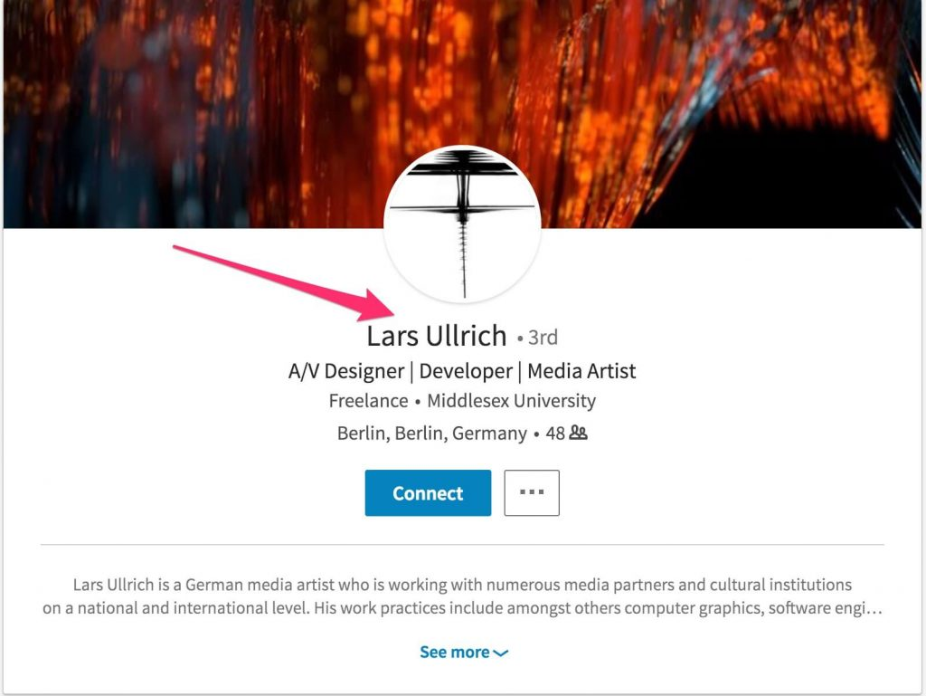 not lars on linkedin