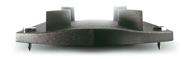 Bolt-on cast alloy bases are supplied