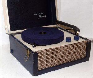 A 1950s portable record player