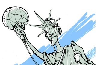 Lady LIberty Listening in