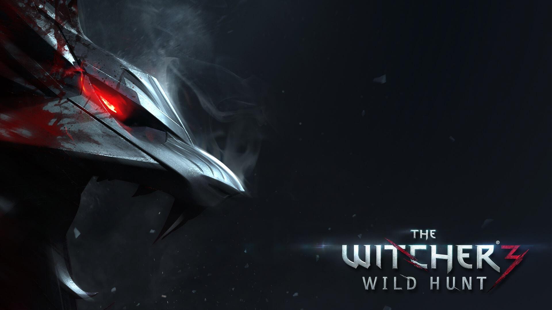 The Witcher 3: Wild Hunt 1080p Wolf Medallion Wallpaper