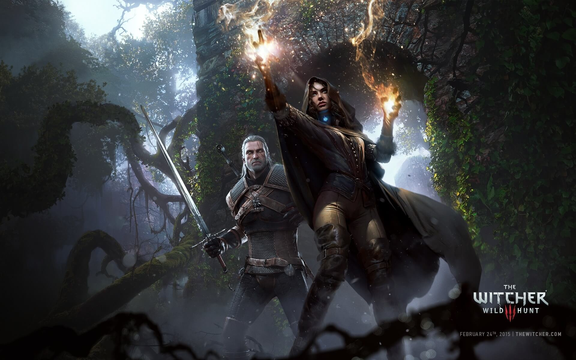 The Witcher 3 Wild Hunt Geralt and Yennefer Wallpaper
