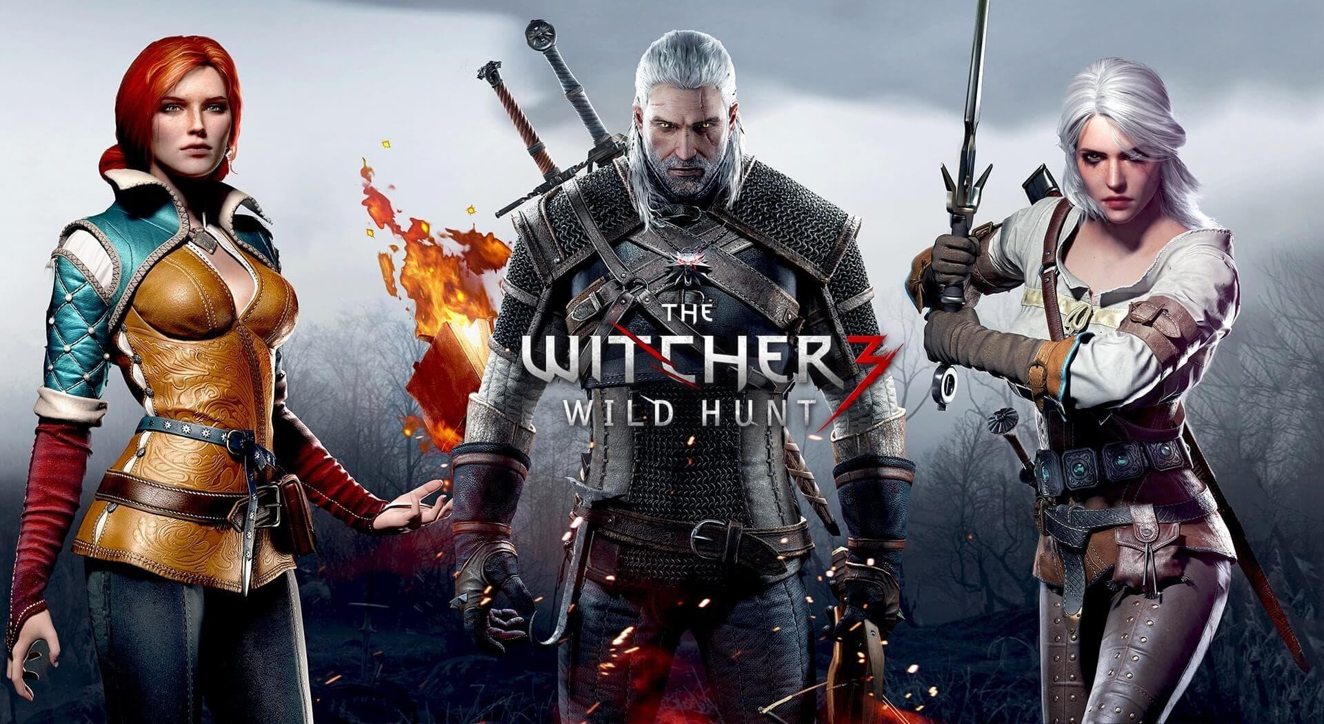 The Witcher 3 Wild Hunt Geralt, Triss, and Ciri Wallpaper