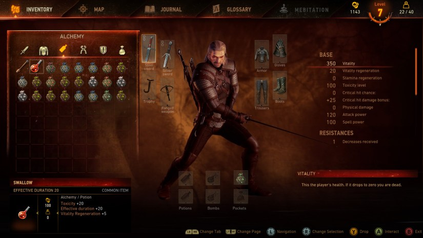 Witcher 3: Wild Hunt Old Interface