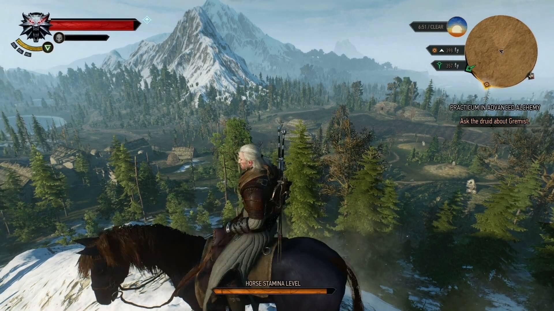 witcher 3 wild hunt horse riding open world