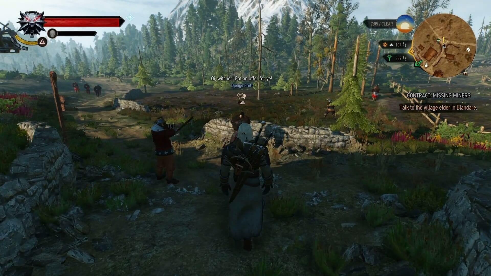 witcher 3 wild hunt quest NPC dialogue