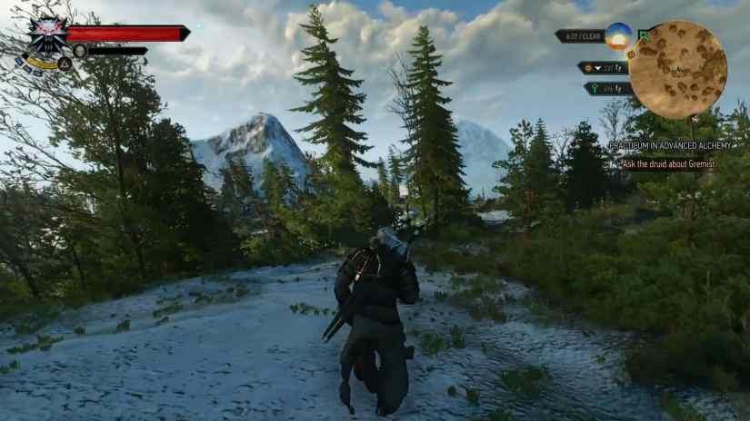 witcher 3 wild hunt running open world