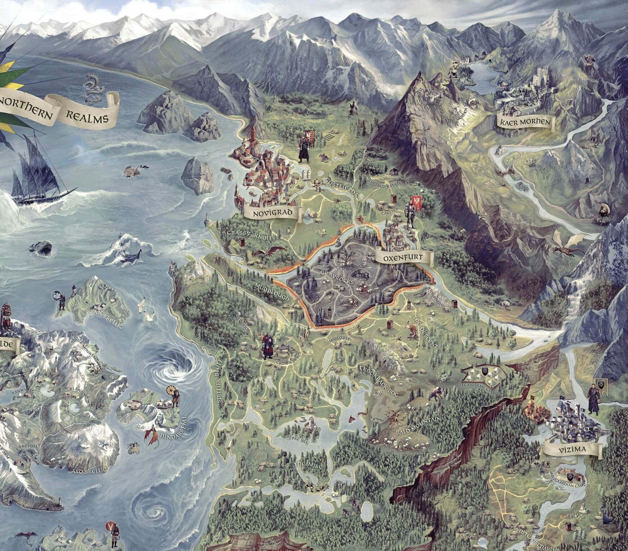 Witcher 3: Wild Hunt World Map