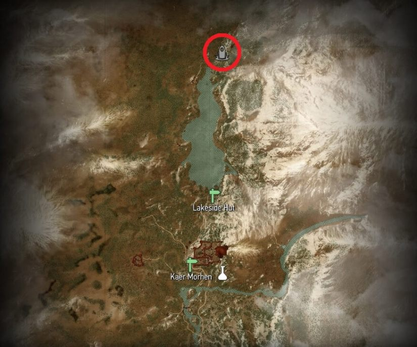 Witcher 3 - Kaer Morhen Place of Power Map Locations