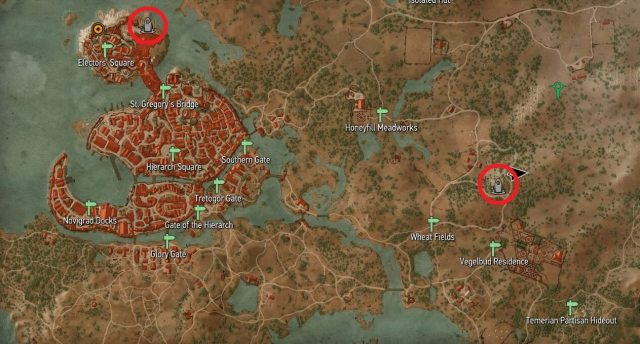 Witcher 3 - Novigrad Place of Power Map Locations