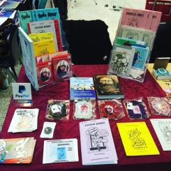 My table at Women In Comics 2017, March 25, 2017.