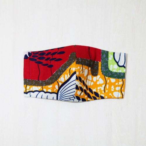 🤝完売🤝【夏 リネンマスク】アフリカンプリントマスク #3-5 遊び心たっぷり!