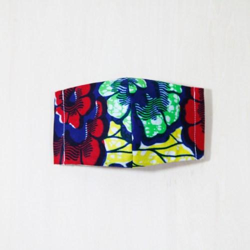 🤝完売🤝【夏 リネンマスク】アフリカンプリントマスク #6-5