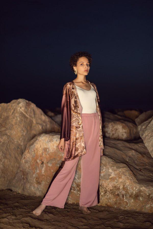 kimono soie imprimé shopping e-shop