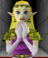 Zelda, bearer of the Triforce of Wisdom.