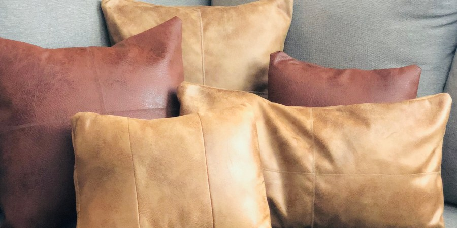 diy leather pillow covers a pottery