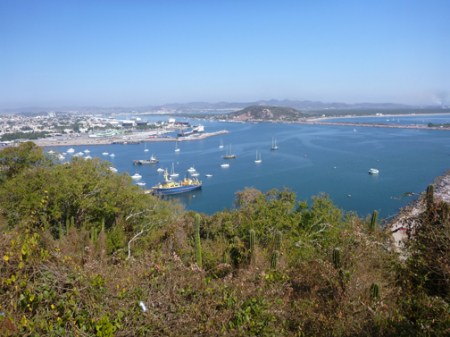 View of Mazatlan from El Faro de Maz hike