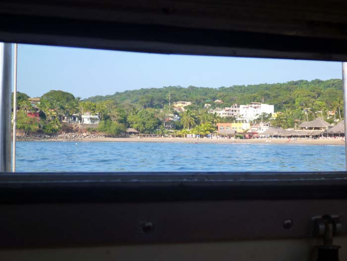 Chacala from Brio's galley Porthole