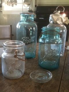 Blue Mason Jars Make My Heart Smile