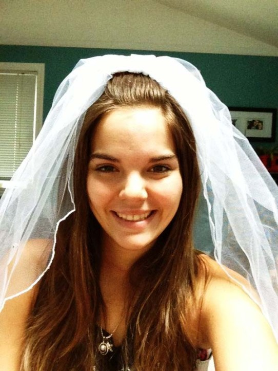 Jess trials the veil