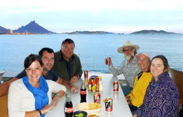 "The San Carlos ""Workyard Crew"" - enjoying dinner and a view"