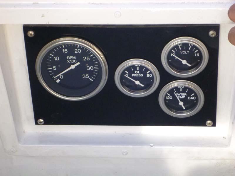 Close up of engine gauges
