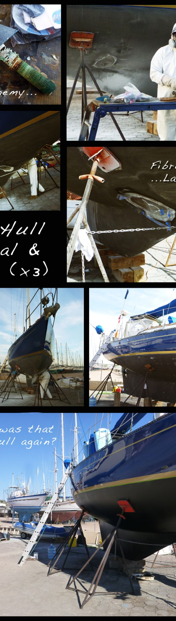 Removing and Repairing Old Thru Hulls NorWest 33