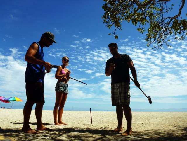 Croquet on the beach - Punta de Mita beach