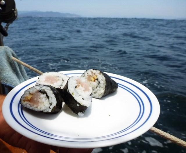 Fresh Dorado Sushi on Passage... mmmm