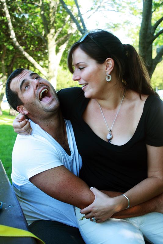 A happy couple?