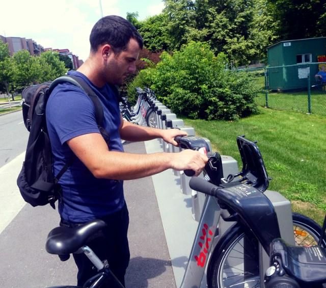 Renting Bixi bikes in Montreal