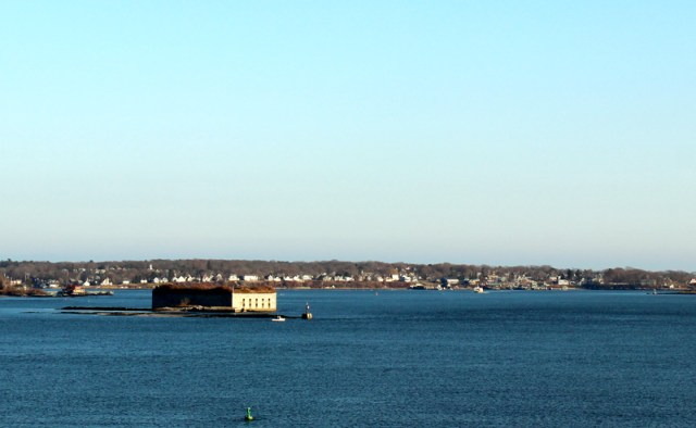 The harbour in Portland, Maine