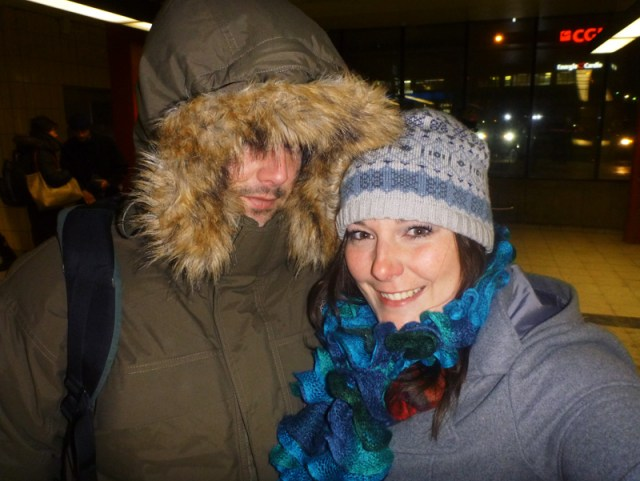 Dressed like eskimos for the Montreal cold