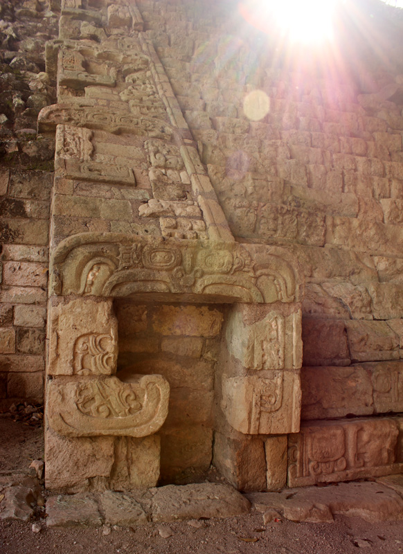 Sunlight on the Hieroglyphic staircase