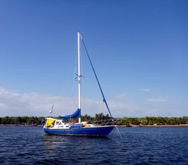Brio at anchor - Bahia del Sol
