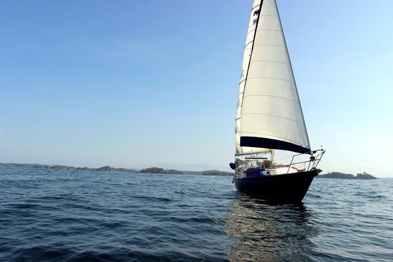 Brio under sail