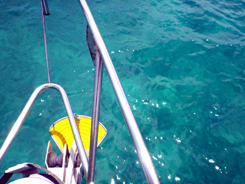 Clear water in 40'