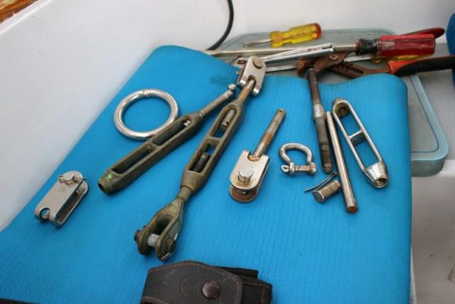 Spare rigging parts