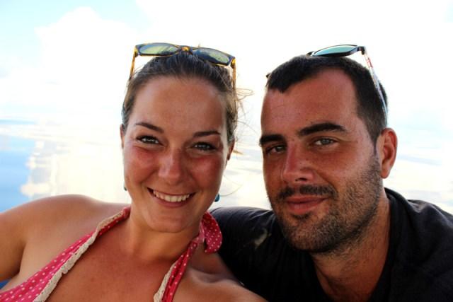Happy sailor couple