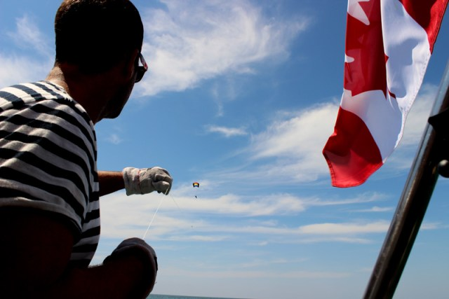 Let's go fly a kite! A GoPro kite on a sailboat!
