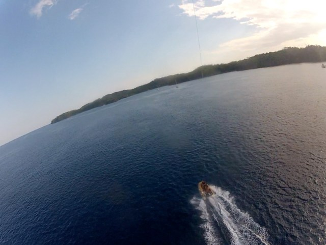 Early GoPro kite shots from the dinghy