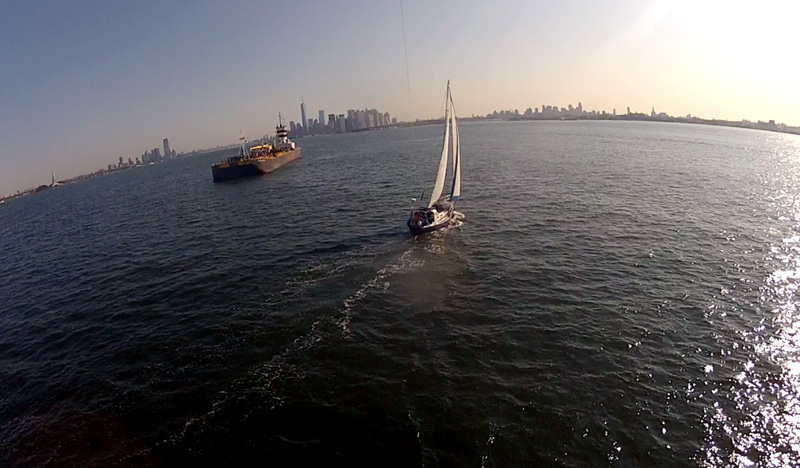 GoPro Kite Camera from Brio Sailing in New York Harbour