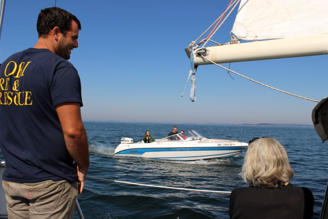 Visitors (in their FAST boat!)