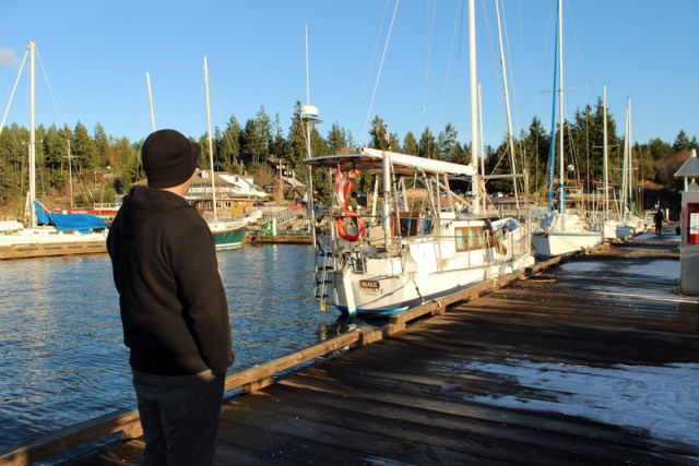 Jon at the marina in Lund