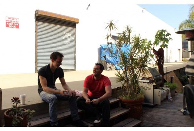 Tetro brothers - outside Ben's studio